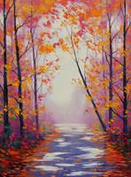 Dappled Autumn light by artsaus