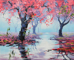 Spring Blossom Reflections by artsaus