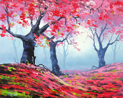 Blosson tree Landscape by artsaus