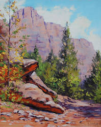 Zion Canyon by artsaus