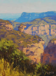 View Across Narrow Neck by artsaus