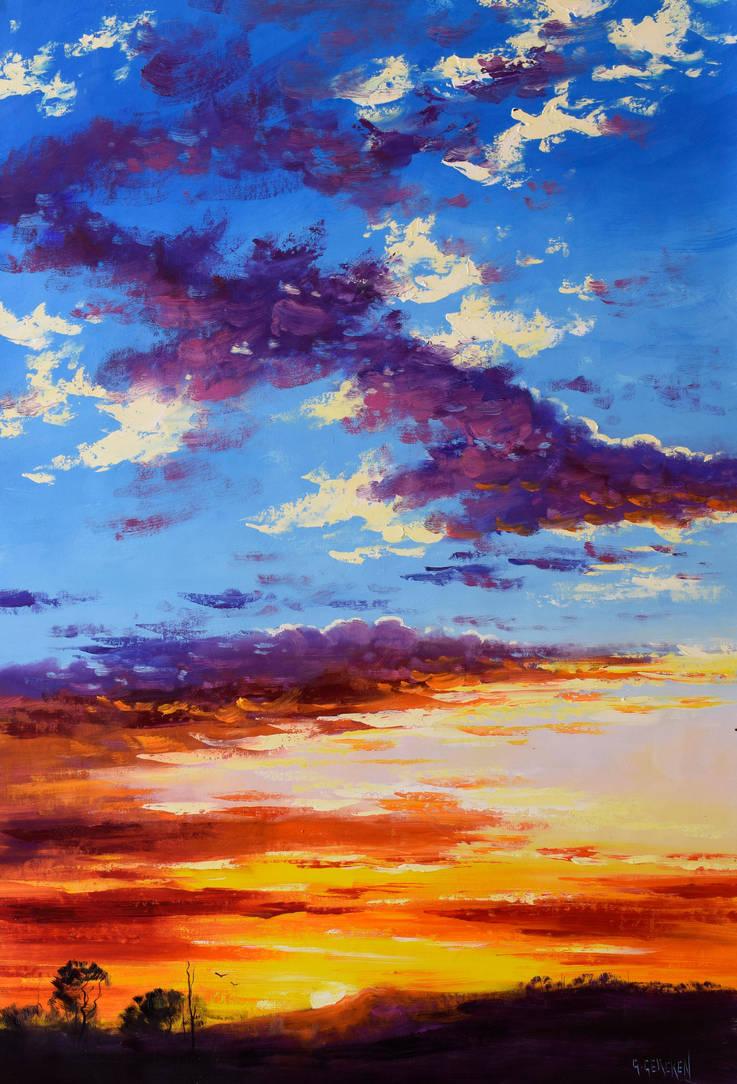 Bush Sunset by artsaus