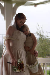 Bride and flower girl by Fully-Stocked