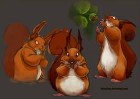 Squirrels, squirrels everywhere WIP by Vertuchou