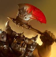 Warhammer LCG: Basha'sBloodaxe by Cryptcrawler