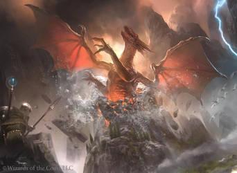 MTG: Furyborn Hellkite by Cryptcrawler
