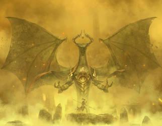 Magic The Gathering: Nicol Bolas by Cryptcrawler