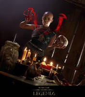 Elder Scrolls Legends: Blood Sorceress by Cryptcrawler