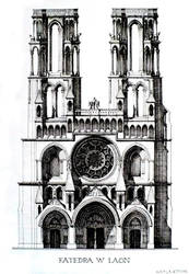 Laon Cathedral by paczek