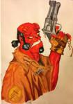 Hellboy by Ohkwaricua