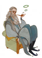 Gandalf and his Pipe by Norloth