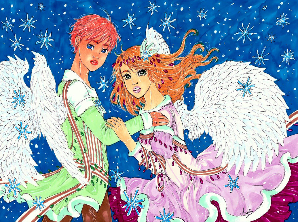 Snow angels by Anochan22