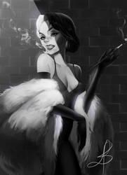 Cruella De Vil (fanart) by Limelissa