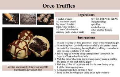 Oreo Truffle Recipe by claremanson