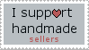 I support handmade sellers Stamp by claremanson