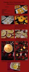 Orange Slice Christmas Tree Decoration Tutorial by claremanson