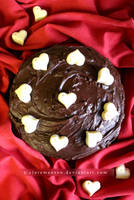 Quadruple Chocolate Love Cake by claremanson