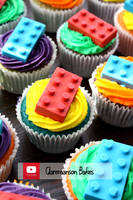 Rainbow Lego Cupcakes (+YouTube Recipe) by claremanson