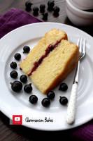 Blackcurrant Jam Cake by claremanson