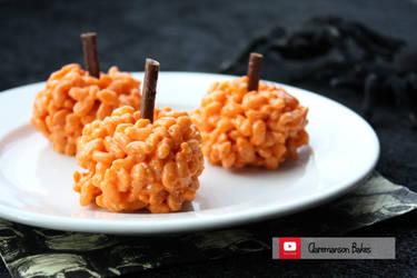 Pumpkin Krispie Treats (+YouTube Recipe) by claremanson