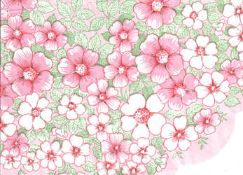 Pink and Florid by semireal-stock