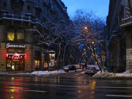 Street at night 2 by semireal-stock