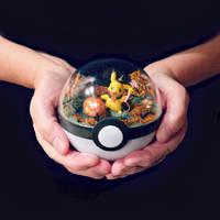 Poke Ball Terrarium - Halloween Pikachu - Medium by TheVintageRealm