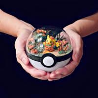 Poke Ball Terrarium - Pumpkin Pika by TheVintageRealm