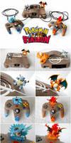Pokemon Stadium Nintendo 64 - Custom Painted by TheVintageRealm