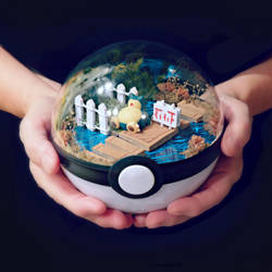 Snorlax Block Rout - Poke Ball Terrarium by TheVintageRealm