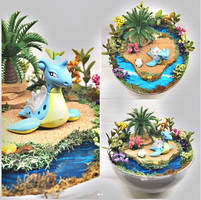 Lapras Tropical Island - Poke Ball Terrarium by TheVintageRealm