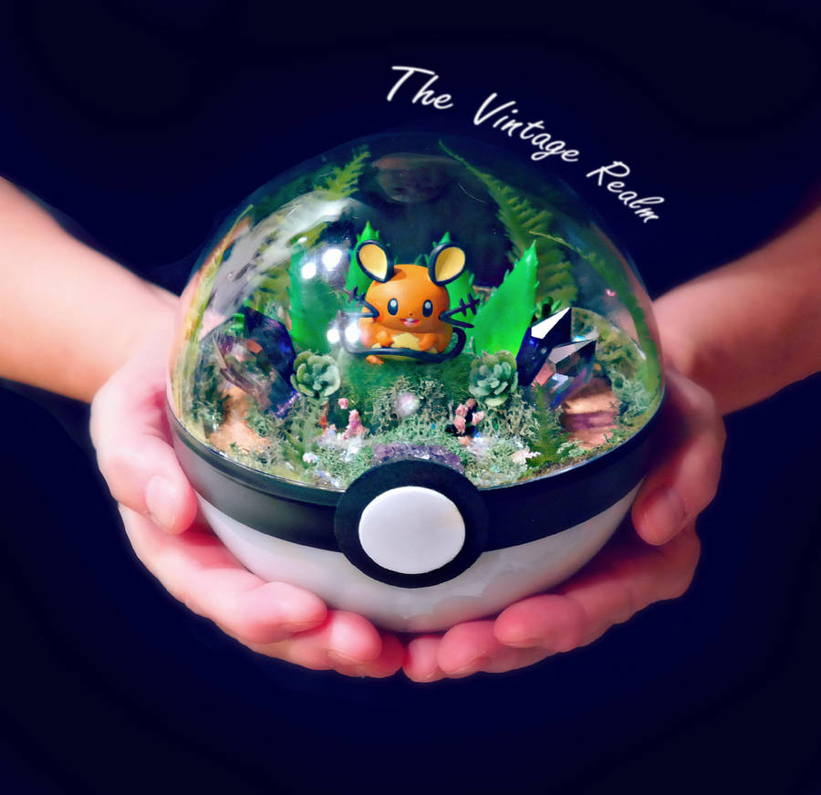 Poke Ball Terrarium - Dedenne Succulent Throne by TheVintageRealm