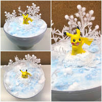 PBT Collage - Pikachu Winter Wonderland by TheVintageRealm