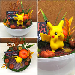PBT Collage - Pikachu Pumkin Patch by TheVintageRealm