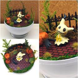 PBT Collage - Mimikyu Haunted Town by TheVintageRealm