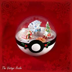Poke Ball Terrarium - Chritmas Kitchen Vulpix by TheVintageRealm