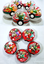 Poke Ball Terrariums - Christmas Day Designs by TheVintageRealm