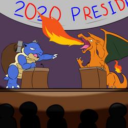 Politics: Red and Blue by SpiralGenie