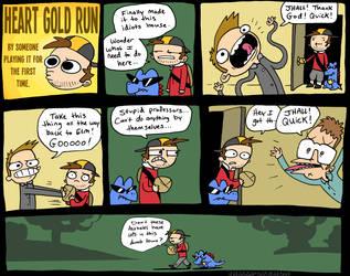 Heart Gold Run 3 by JHALLpokemon