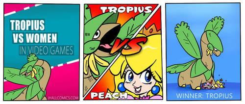 Tropius VS Women in Video Games by JHALLpokemon