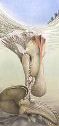 Spinosaurus aegyptiacus by RavePaleoArt