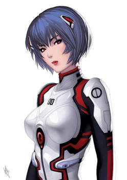 Rei Ayanami by WarrenLouw