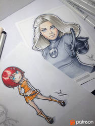 Copic Eri and Invisible Woman by WarrenLouw