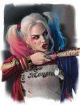 Harley Quinn study II by WarrenLouw