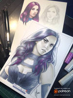 Psylocke by WarrenLouw