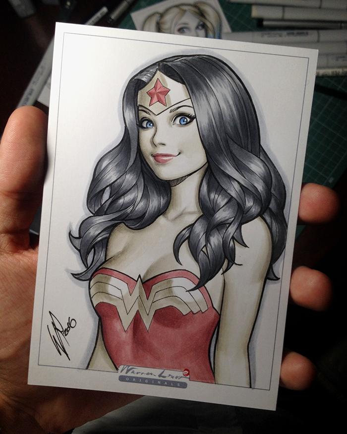 Copic Wonder Woman by WarrenLouw