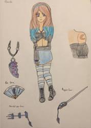 Soul Eater fan comic character: Momoko by KKSparks