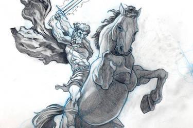 Davit on Horse by sykohyko