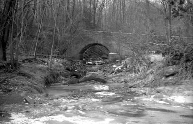 Winter 1981 - Bridge over Feeder Stream by ArkNorth
