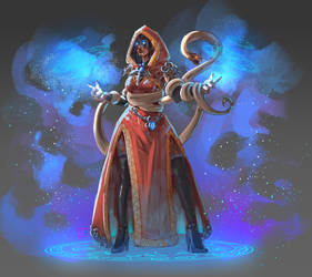 Saikhana the red mage by PierricSorel